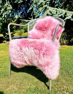 XXXL Baby Pink British Sheepskin Rug - 115cm by 70cm A++ (4258)