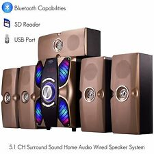 Frisby FS-6900BT Home Theater Surround System 5.1 w/ Bluetooth SD USB AUX for TV