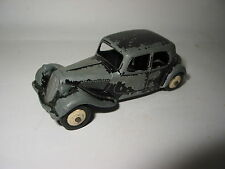 DINKY TOYS CITROEN TRACTION 11 BL REF. 24N MALLE ROUES JAUNES