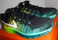 RARE 2014 Men's Nike Flyknit Max AirMax Turbo Green Blue Black White Size 8