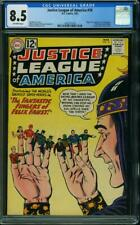 JUSTICE LEAGUE OF AMERICA #10 CGC 8.5 1ST APP. AND ORG. FELIX FAUST #1262277020