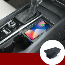 QI Wireless Car Charger Center Console Storage Box For Volvo S60 V60 2018-2020