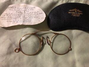18 kt solid Gold, Vintage Glasses, Zeiss lenses