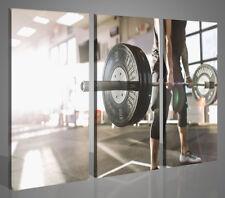 Quadri moderni sport palestra workout crossfit 130x90 stampe su tela XXL 4278