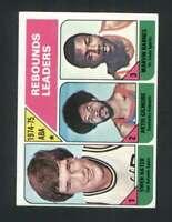 1975-76 Topps #225 Swen Nater/Artis Gilmore/Marvin Barnes EXMT/EXMT+ ABA Rebound