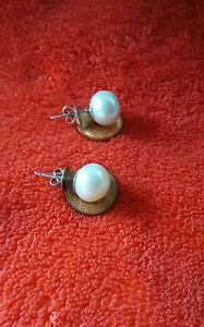 GoldNMore: Used/Pre-Owned South Sea Pearl 18K White Gold Earrings