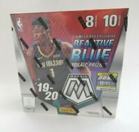 Factory Sealed Panini NBA Basketball Mosaic Mega Box 2019-20 Reactive Blue