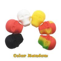 1pcs Screw Top Nonstick Dab Skull Container Jar Decor Random Color Silicone