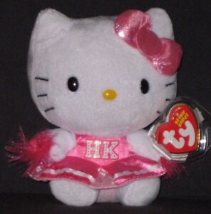 TY HELLO KITTY CHEERLEADER BEANIE BABY - MINT with MINT TAG