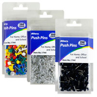 "150 Pcs Push Pin Thumb Tack Clear Color 3/8"" Drawing Cork Board Office Pushpin"