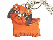 Shih tzu Handmade 3D Leather Dog/Animal Bag Charm *VANCA* Made in Japan #26013