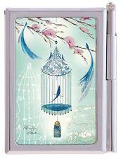 Maranda Ti Poetry Birdcage Handy Notepad & Pen Handbag Women Girl Gift USNP151