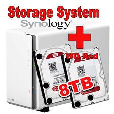 8TB (2x4TB) WD Red Synology DS216se Disk Station Gigabit NAS Filme MP3
