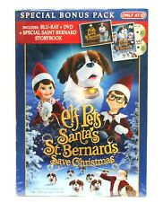 Elf Pets Santa's St. Bernards Save Christmas Blu-ray with Storybook NEW
