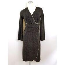 Max Studio Size S Black Taupe Midi Dress