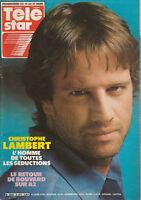 "Télé Star N°493 - Christophe Lambert - ""Cocoricocoboy"" - Amanda Lear - M. Detmer"
