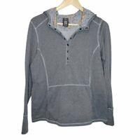 REI Co-op Rendezvous Travel Hoodie Sweatshirt Women's Sz L Hiking Outdoor Grey