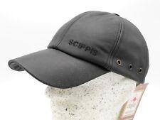 Scippis Leder-baseballcap schwarz