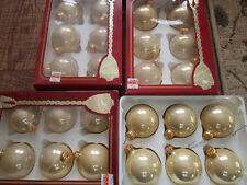 """Vtg Lot of 24 Victoria Rauch Champagne Christmas Ornaments 2.5"""""""