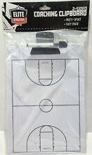 New Elite Athletics Coaching Clipboard Multi Sports Basketball 2-Sided & Pen â–¡