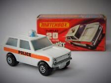 VINTAGE MATCHBOX SUPERFAST ROLA-MATICS POLICE PATROL RANGE ROVER #20 J BOX 1975