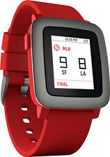 Pebble Time 9.5mm Stainless Steel Case Cherry Red Classic Buckle - (501-00022)