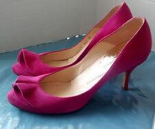 Emporio Armani Ladies Fuchsia Suede Court Shoes - size UK 5 / Eu 38