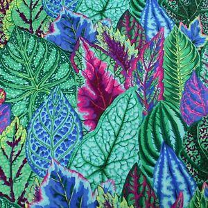 Kaffe Fassett Coleus Leaves Multi Cotton Quilting Craft Fabric