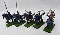 Warhammer Dark Elf Dark Riders 5 painted table ready dreadlord conversion