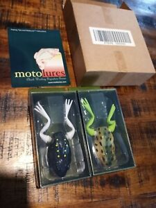 NOS Chuck Woolery Moto Frog Fishing Lure Continuous Live Action x2 Fast Shipping