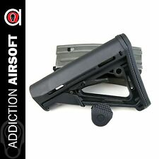 Element Airsoft MOE Style CTR Retractable PTS Stock For AEG & GBBR - Black