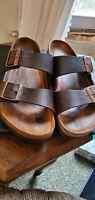 Birkenstock Arizona Tabacco Leather Sandals EURO  40 Women 9-9.5