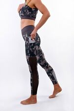 Camo Women's Performance & Fitness leggings with side pockets and black mesh