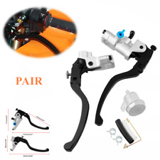 2pc Motorcycle Hydraulic Brake Clutch Lever CNC Brake Handle Lever Pump Assembly
