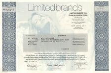 Limited Brands collectible stock certificate > Victoria's Secret model underpint