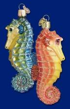 Sea Horse Ornament Glass Red and Yellow Old World Christmas 12039 3