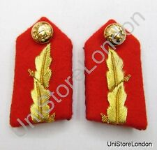 Gorget Collar Patch Red Gold Leaf L 2 3/4' ' General Officers R857