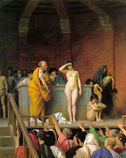 Jean-Léon Gérôme  - Slave Auction - 24'  CANVAS