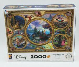 Thomas Kinkade Disney Dreams Collage 2000 Piece Jigsaw Puzzle Collection Sealed