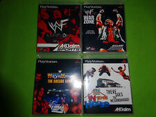 Empty Cases! WWF Wrestlemania The Arcade Attitude War Zone House PS1 PS2 PS3