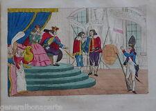 CARICATURE REVOLUTION NAPLES NAPOLI Ferdinando I SICILIE ITALIE ITALIA MARINE