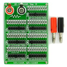 1R - 9999999R Seven Decade Programmable Resistor Board, Step 1R, 1%, 1/4W.