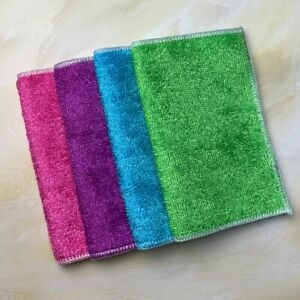 Organic Bamboo Dishcloth Assorted Colours | Eco-Friendly Kitchen | Plastic Free