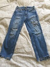 H&M Mom Jeans Light Blue Ripped Size 8 10