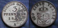 COIN ANTICHI STATI GERMANIA  SCHEIDE MÜNZE 3 PFENNING 1868 (A) 120 EINEN THALER