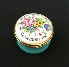 Halcyon Days Floral Enameled Twist Trinket Box When This You See Remember Me