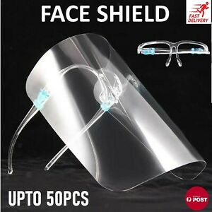 Face Shield Protective Eye Protective Clear Anti Fog Plastic Shield Reusable