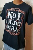 Number One Dad Number One Olde Man Mens Tshirt Black Size XL