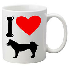 I Love Husky Dogs on a Quality Mug. Great Novelty 11oz Mug.
