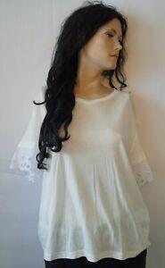 Thommy Hilfiger Damen T-Shirt Weiß mit Details Gr.XL UVP 79,90 € Neu!